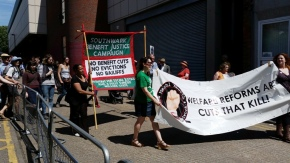 Streatham Jobcentre march against benefits cuts on 26th June 2015, and a letter from The Guardiannewspaper