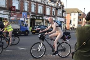 Naked World Cyclist Day Southampton2015